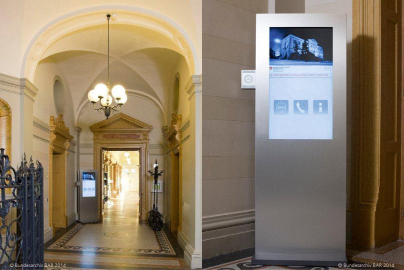 Referenz Stele im Bundesarchiv BAR Bern inklusive Informationssystem