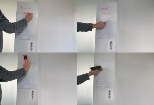 Whiteboard Collage, Beschriften und Entfernen von dynamischen Inhalten
