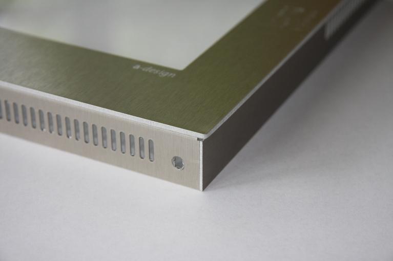 Alunox Rahmen und Abdeckung vom Point Schild, ohne Papiereinzug.