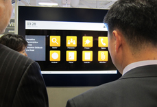 Anzeige auf dem Monitor: Kiosk Funktion des A-Design Organizer