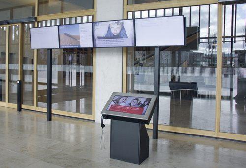 Referenz Terminal, Digitaler Portier, Eingang vom Campus Muttenz FHNW
