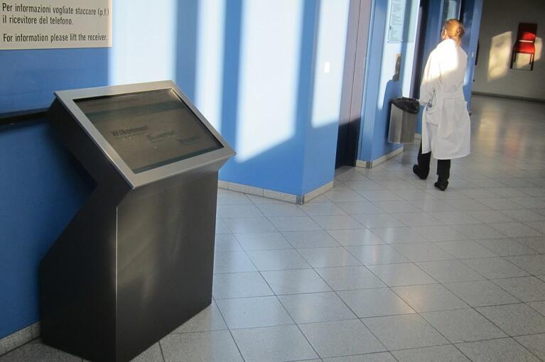 Referenz Inselspital Bern, virtueller Portier, eConcierge mit spezifischem Screendesign für Inselspital.